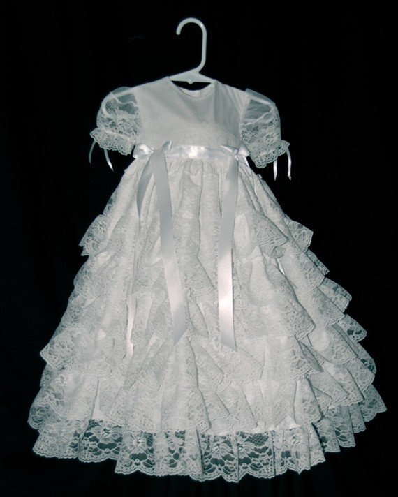 Lacey Handmade Christening  Gown
