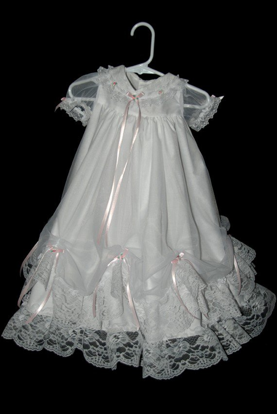 Mary Handmade Christening  Gown 9-12 Months