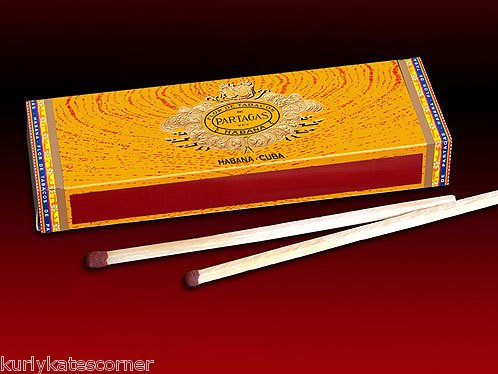 3 BOX'S OF FANCY PARTAGAS  WOODEN CIGAR MATCHES