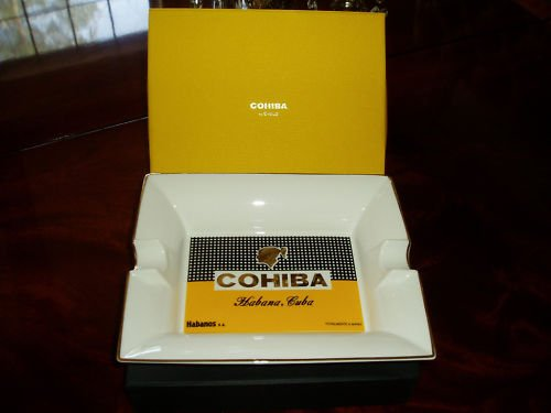 AUTHENTIC LICENSED HABANOS  SIGLO COHIBA ASHTRAY