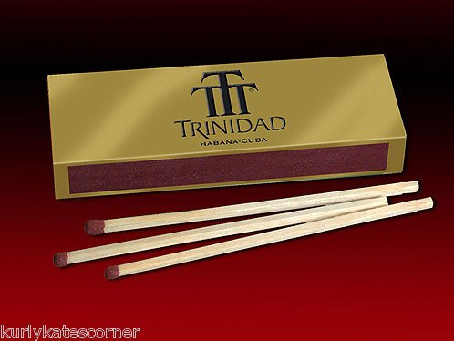 3 BOX'S OF FANCY TRINIDAD  WOODEN CIGAR MATCHES