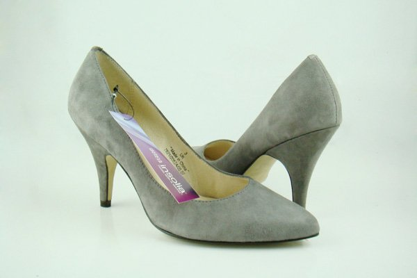 Ladies Dress Shoes High-Heeled Shoes Grey UK Size:4- 8