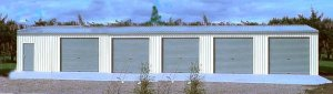 Steel Metal 5 Car Garage Shop Building Kit 1488 Sq Ft