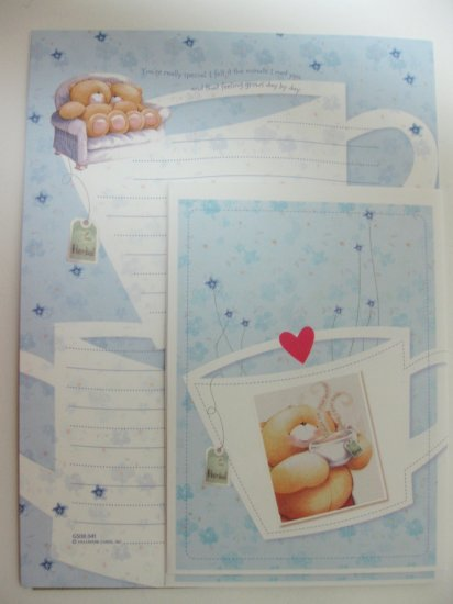 Cute Light Blue Forever Friends Hallmark Letter Set