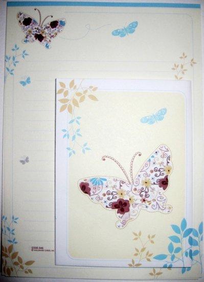 Pretty Flora Butterfly Hallmark Letter Set