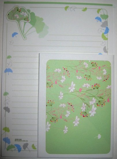 Light Green Flower Leaf Hallmark Letter Set