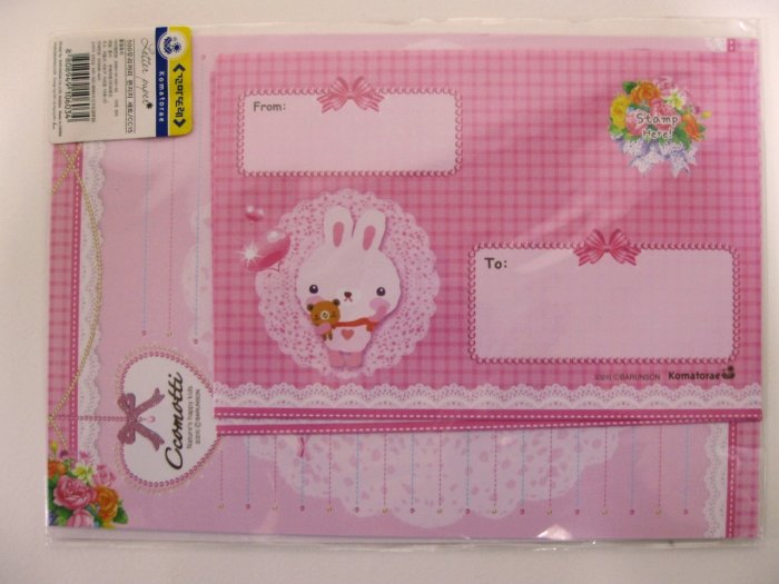 Cute Pink Ccomotti Rabbit Letter Set