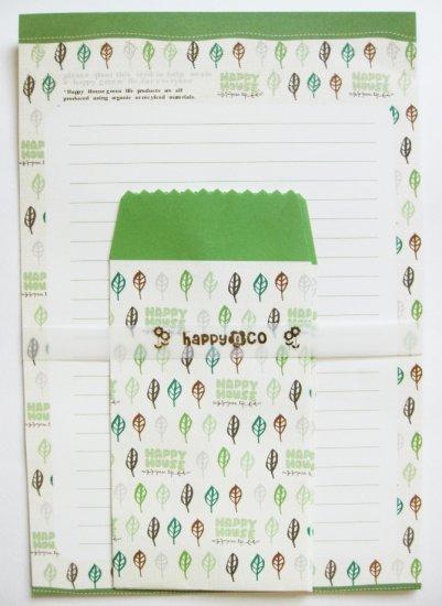 Pretty Green Leaf Letter Set