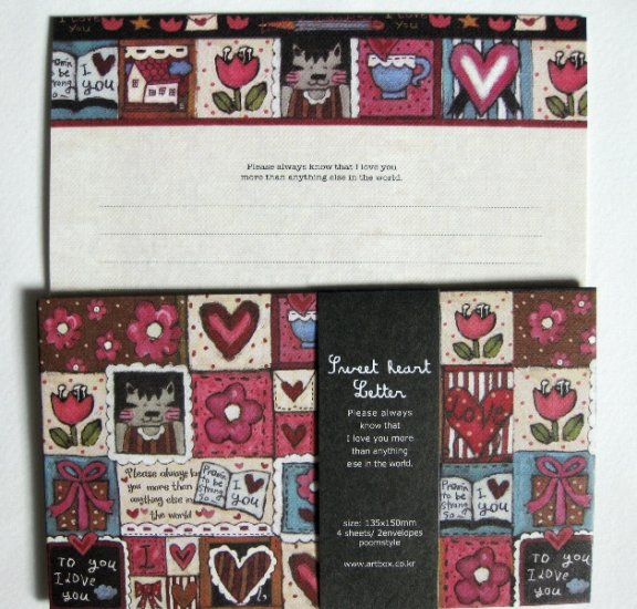 Cute Artbox Dark Sweet Heart Letter Set