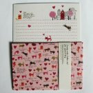 Cute Artbox Heart and Cats in Town Letter Set