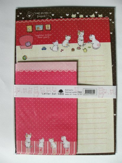 Cute Cats Together Never Apart Letter Set