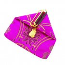 Womens Oriental Satin Brocade FROG Coin Purse Wallet Hotpink SW021