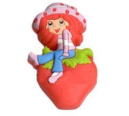 Strawberry Shortcake Sitting on a Strawberry Shoe Charm Set of 2