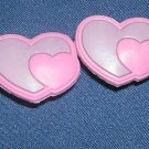 Pink Hearts Shoe Charm Croc Decoration, Set of 2, Free Shipping