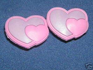 Pink Hearts Shoe Charm Croc Decoration Set of 2