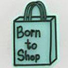 Born to Shop Shoe Charm