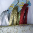 "Gltter Shoelaces - SET OF 4  Red,Gold,Silver, Green Glitter 43"" Shoelaces"