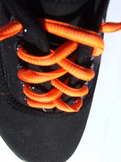neon orange shoelaces
