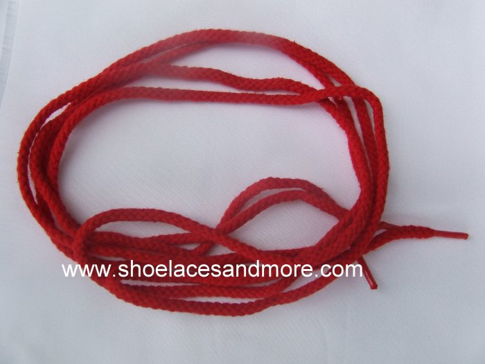 """45"""" Bright Red Shoelaces Round  (45 inch) - Can also be used for a drawstring"""