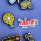 WALL-E Shoe Charms for Crocs Set of 6 WALL E Eve Light Bulb