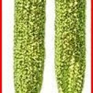 "Lime Green Chartreuse  Glitter Shoelaces, Yellow Green Glitter Shoelaces 47"", 47 inches"