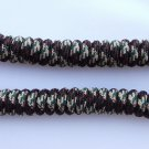 Camouflage Green /  Grey Curly Shoelaces No-Tie Coil Spriral Spring  Twisters Coilers Elastic