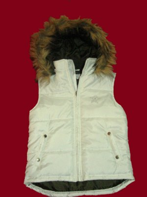 Teen/ Women's White Winter Vest