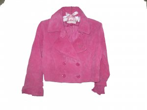 Teen Pink Suede Leather Jacket