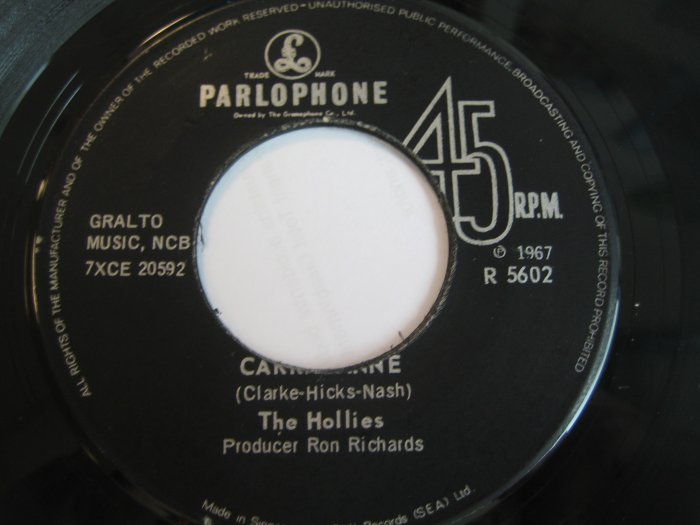 The Hollies 7in Single Parlophone Spore