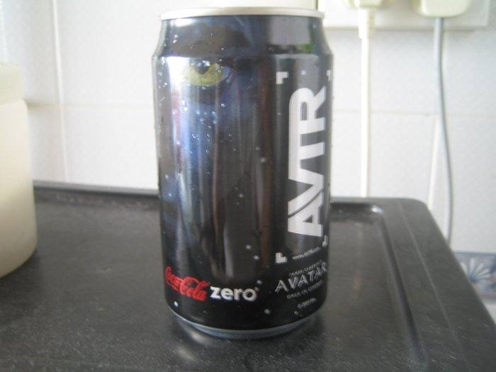 Avatar coke can (empty)