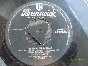 Sammy Davis 7in Single Brunswick