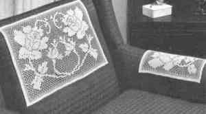 Roses in Bloom Chair Set Pattern