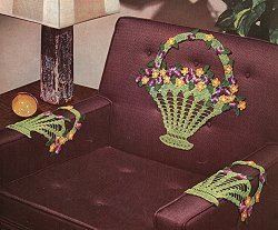 Basket of Flowers Chair Set Pattern