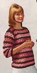Lovers Knot Stripe Sweater Pattern
