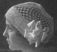 Knot Stitch Boudoir Cap Pattern