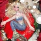 Hand Made Artist Original Polymer Clay Figurative Art Sculpture Title Amarra Mermaid  PR003877