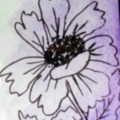 ACEO Original Art Card the size 3.5 inches by 2.5 inches of a trading card Title Flowers3