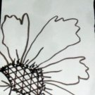 ACEO Original Art card 3.5 inches by 2.5 inches. the size of a trading card Title Flowers5