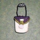 Handcrafted Original Art Sculpture Polymer Clay Jewelry Miniature Hand Bag Pendant CR00839