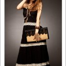 New fashion lace strap long party evening dress One size