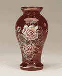 Handpainted Ruby Vase