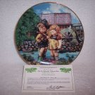 "Hummel Little Companions Plate-""Hello Down There"" w/certificate"