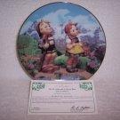 "Hummel Little Companions Plate-""Little Explorers"" w/certificate"