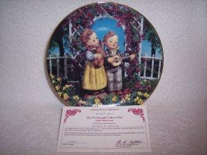 """Hummel Little Companions Plate-""""Little Musicians"""" w/certificate"""