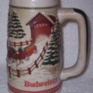 Budweiser Clydesdales Ceramic Holiday Stein>Handcrafted>Limited Edition