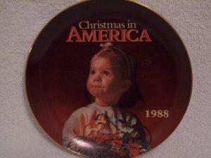 Christmas In America: KMart 1988 Christmas Plate