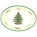 Spode Christmas Tree Oval Rim Dish