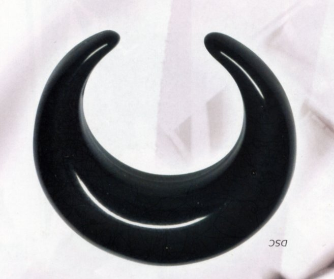 Black Acrylic Crescent