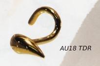18k Gold Teardrop Nostril Stud