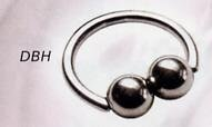 Bouble Ball Closure Ring Horizontal